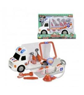 Ambulancia con luz y sonidos