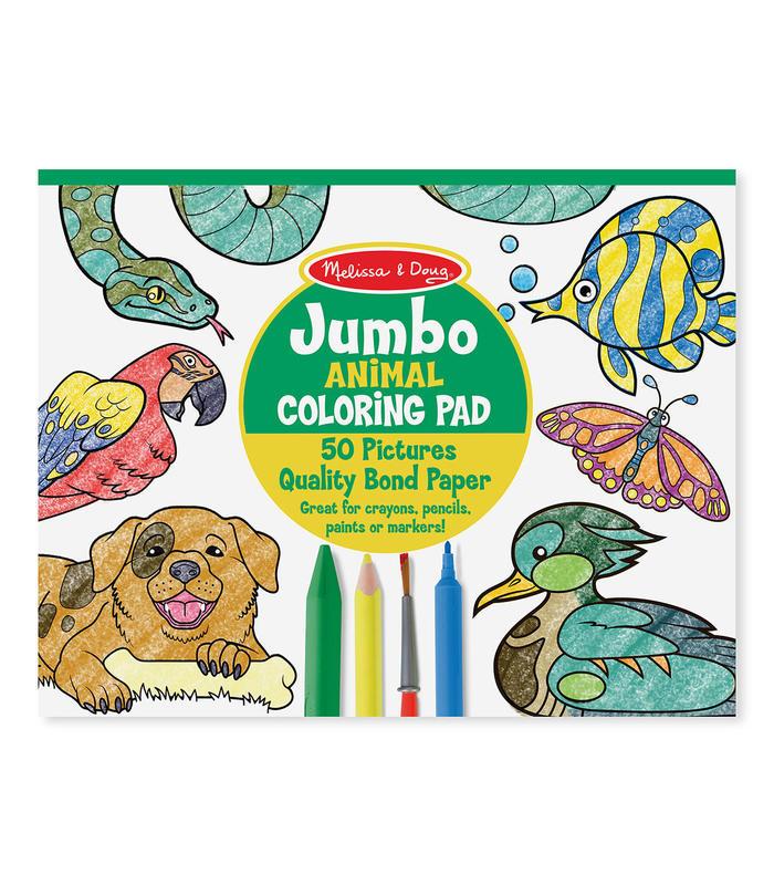 Libro Jumbo de Pintar- ANIMALES M&D