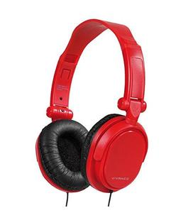 Auriculares DJ plegables color RED